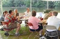 Wallis Cove in Douglas is a beautiful natural setting for meetings, reunions, weddings, birthday parties